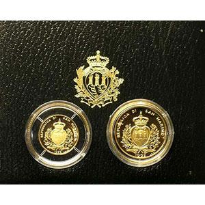Coffret de 2 pièces   1 et 2 Scudi   1992    BE