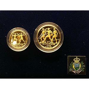 Coffret de 2 pièces   1 et 2 Scudi   1997    BE