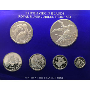coffret de 6 pièces en argent  Royal Silver Jubilee Proof Set   1977    PROOF