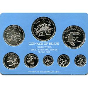 coffret de 8 pièces en argent  Collector's Solid Sterling Silver Proof Set   1978    PROOF