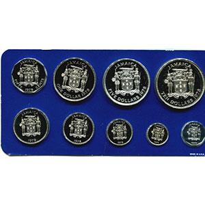 coffret de 9 pièces dont 2 en argent  Proof Set   1978    PROOF