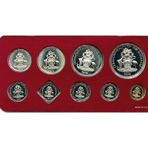 coffret de 9 pièces dont 4 en argent  Proof Set   1978    PROOF