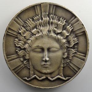 Dammann Paul-Marcel   C.P.D.E. (Compagnie Parisienne de Distribution d'Electricité)   Médaille en argent 64mm   (1932)    SUP/FDC
