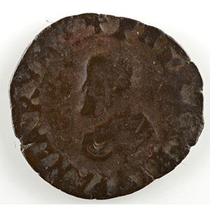 Denier   Philippe II (1556-1598)   1589  Dôle    B/TB