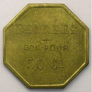 Denrées  50 cent   Lt, 8  25mm    SUP