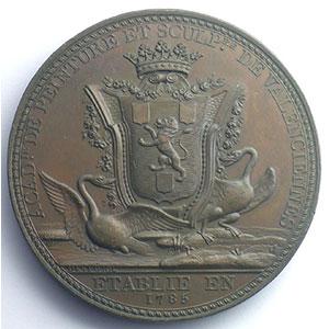DESPUJOL   Médaille en bronze  53mm   Valenciennes    SUP