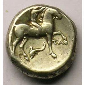 Didrachme campano-tarentin   (270-250 av.JC)    TTB