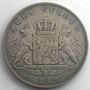 Doppelgulden   1849    TB+/TTB