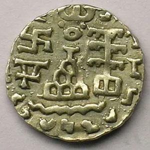Drachme   (région de Kuninda - Amoghabuti 2° siècle av.JC)    SUP