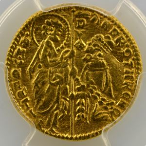 Ducat   Andréa Contarini  (1368-1382)    PCGS-MS62    SUP/FDC
