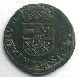 Duit   Philippe II (1555-1598)   1597  Anvers    TB+/TTB