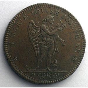 DUPRE   Séjour à Paris du Roi et de la Reine d'Etrurie   10 juin 1801   bronze   34 mm    TTB+