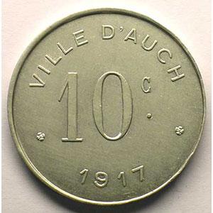 Elie   10,3  10 c 1917   Al,R   27,5 mm   SUP/FDC