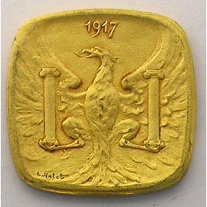 Elie 10.5   5 c   1917  (Essai)  Lt doré, 4a  19mm    SUP/FDC