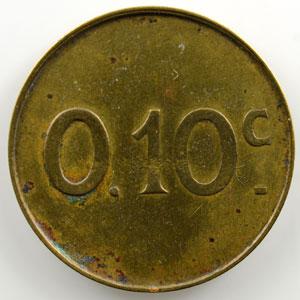 Elie 60.2   0,10 c   rond en laiton   25mm    TTB