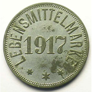 Eupen   Stadt   1/2 Mark   1917   ZnNi, R   23mm    TTB+