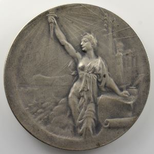 EXBRAYAT   Médaille en argent  50mm   Offert pas le Petit Parisien    SUP