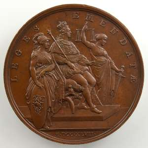 F. Marteau   Règlements du Roi   bronze   41mm    SUP/FDC