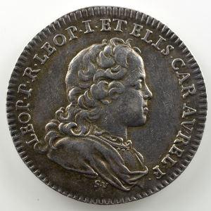 Ferdinand de Saint-Urbain   Jeton rond en argent  27mm   Léopold-Clément   1714    TTB+
