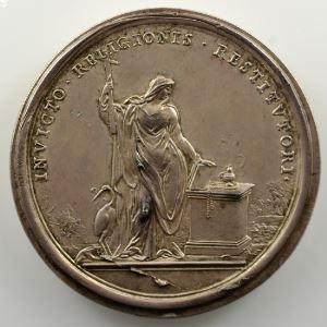 Ferdinand de Saint-Urbain   Médaille en argent  46mm   Jean Guillaume, Electeur Palatin    SUP/FDC