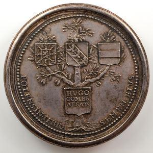Ferdinand de Saint-Urbain   Médaille en argent  48mm   Hugues, Comte d'Alsace    SUP