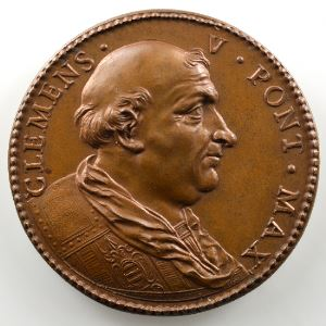 Ferdinand de Saint-Urbain   Médaille en bronze  40mm   Clément V (Pape de 1305 à 1314)    SUP/FDC