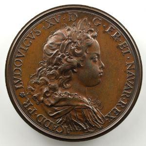 Ferdinand de Saint-Urbain   Médaille en bronze  43mm   Philippe d'Orléans - Louis XV   seconde légende    SUP/FDC