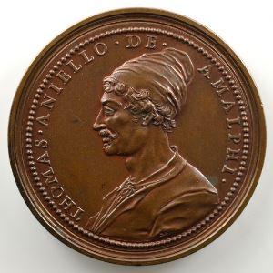 Ferdinand de Saint-Urbain   Médaille en bronze  46mm   Olivier Cromwell - Thomas Aniello de Amalphi    SUP/FDC