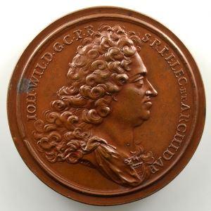 Ferdinand de Saint-Urbain   Médaille en bronze  47mm   Jean Guillaume, Electeur Palatin    SUP/FDC