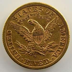 Five D.   1901 S  (San Francisco)   Liberty Head    TTB