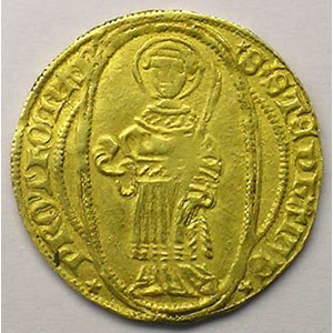 Florin d'or (1ère moitié du XV°s.)  TB+/TTB