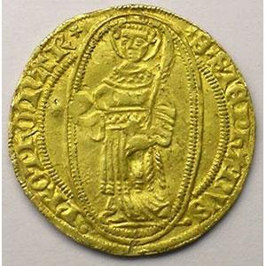 Florin d'or (1ère moitié du XV°s.)   TTB