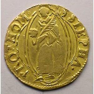 Florin d'or non daté (fin XV°s - 1620)    TB/TB+