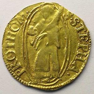 Florin d'or non daté (fin XV°s - 1620)    TB+/TTB