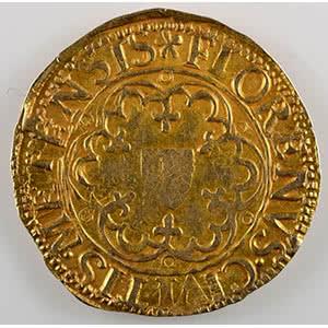 Florin d'or non daté (fin XV°s - 1620)    TTB
