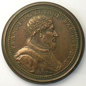 François I   bronze   47 mm    TTB