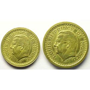 G.132 et 134   1, 2 Francs ND (1943)   Essai en cupro-aluminium    SUP/FDC