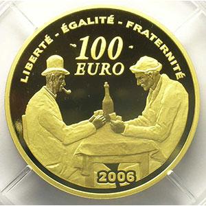 G. 4   100 Euro   Les joueurs de cartes   2006    BE