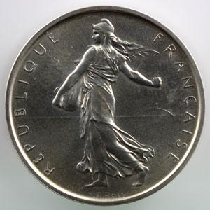 G.770P   5 Francs   1968 argent    SUP/FDC