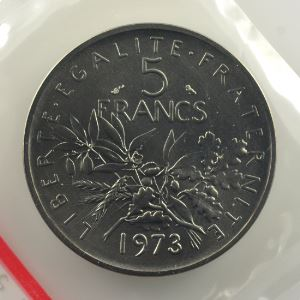 G.771P   5 Francs   1973 nickel    FDC