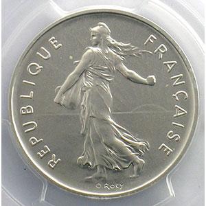 G.771P   5 Francs   1977  Piéfort en argent    PCGS-SP67    FDC