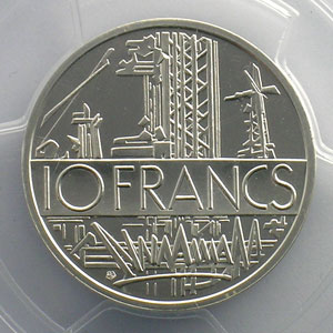 G.814P   10 Francs   1979 argent    PCGS-SP68    FDC
