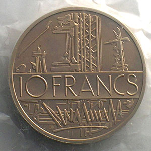 G.814P   10 Francs   1981 cupro-nickel-alu    FDC