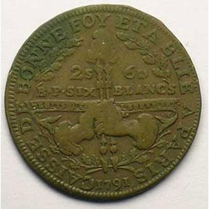 Gad.Elie 4.1   2 Sols 6 Deniers   1791    TB+