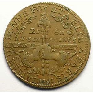 Gad.Elie 4.1   2 Sols 6 Deniers   1791    TTB+