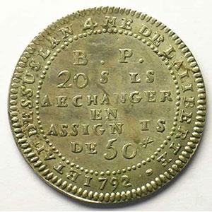 Gad.Elie 9.3   20 Sols   1792    TTB+