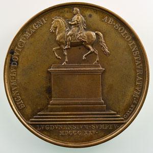 Galle   médaille en bronze  50mm   1825    SUP