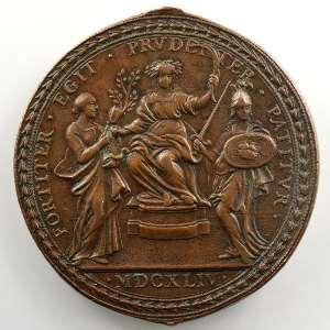 Gaspare Morone   Médaille en bronze   44mm   La guerre de Castro    TTB+/SUP