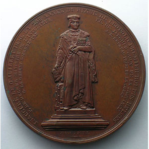 GEEFS Alex.   Inauguration de la statue de Th. Martens à Alost   6 juillet 1856   bronze   54mm    SUP