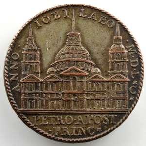 Gianfederico Bonzagni et Alessandro cesati   Médaille en bronze   35mm   Façade de la Basilique Saint-Pierre    TTB+/SUP